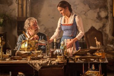 Emma Watson and Kevin Kline play Father and Daughter, Belle and Maurice in the live- action adaptation of Beauty and The Beast